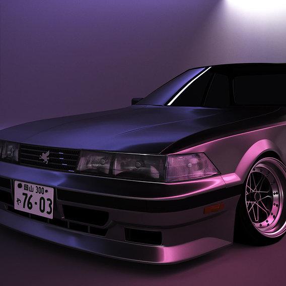 Toyota Soarer midnight.