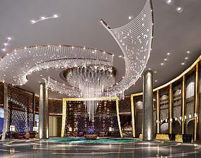 Hotel lobby 3D reception