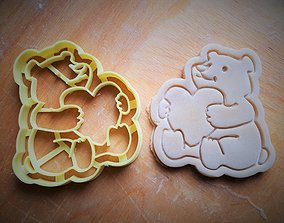 3D print model Teddy bear cookie cutter v3