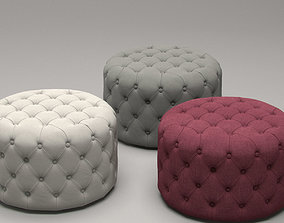 Markus Small Tufted Ottoman 3D model