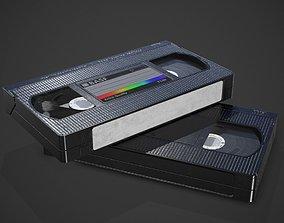 3D model VHS cassette