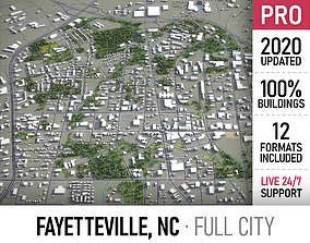Fayetteville - North Carolina - city and 3D model