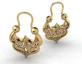 various Gypsy earrings 3D