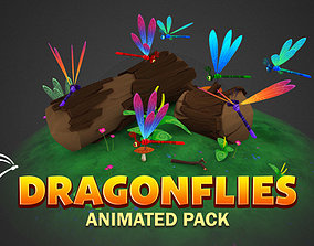 3D model Dragonflies animated pack