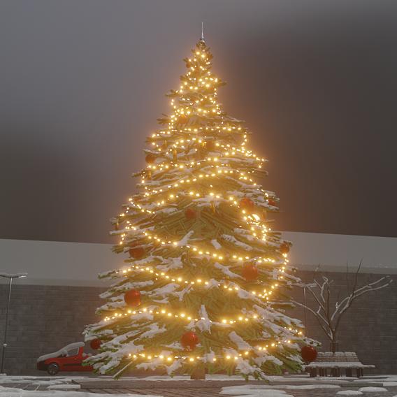 Blender-2.91 Real Snow Test-12