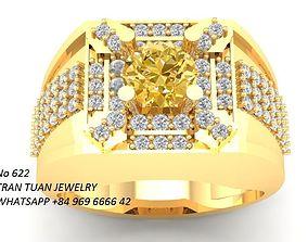 3D print model 622 Luxury Korean Diamond Men ring