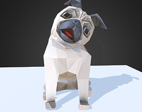 Dog Pug 3D asset