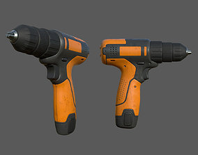 Cordless drill 3D asset realtime