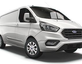 3D model Ford Transit Custom L2H1 Limited UK spec 2020