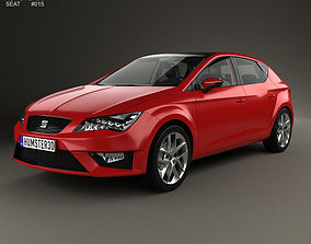 3D Seat Leon FR 5-door hatchback with HQ interior and 1