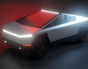 3D model game-ready Tesla Cybertruck