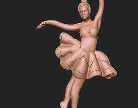 dancer 3D print model ballerina