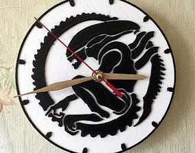 Wall clock ALIEN 3D print model