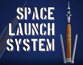 NASA Space Launch System SLS Artemis Rocket 3D asset
