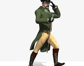 3D model Regency Man 1811-1820 - Low poly - rigged -
