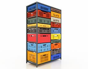 household Plastic Mesh Box 3D model
