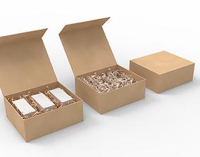 3D model Crinkle Paper - Gift Box