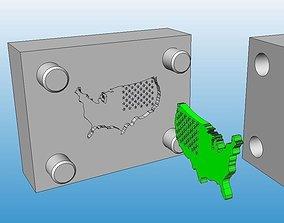 USA Map Tool Mould 3D usa