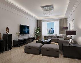 3D Modern Living Dining Room