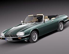3D model Jaguar XJS convertible 1975