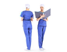 3D model Surgical nurse 09