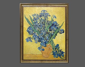 Bronze Frame with Stretcher and Van Gogh Oil 3D asset 1