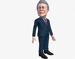 Jimmy Carter 3D caricature animated low-poly
