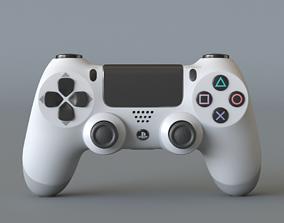 Dualshock 4 white 3D model