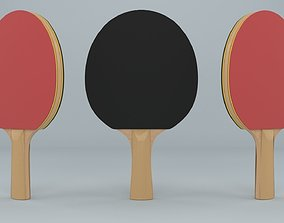 Ping Pong Paddle 3D asset