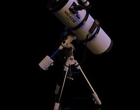 Meade LXD75 Schmidt-Newtonian 10 telescope static 3D model