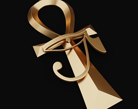 3D printable model Ankh Key Pendant