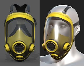 3D asset Gas mask protection futuristic technology 1