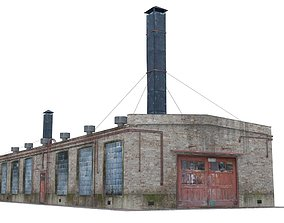Old boiler house building 3D model