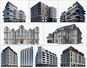 Residential and commercial buildings set-2 3D