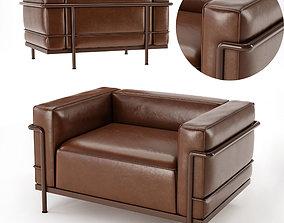 Armchair 3D model seat indoors