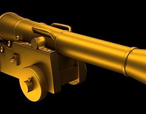 3D Gold Cannon