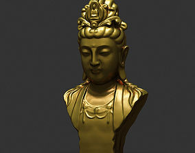 3D model Bodhisattva Statue 01