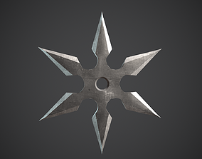 3D asset Shuriken Throwing Stars Ninja Star