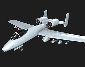 A-10 Thunderbolt 3D model game-ready