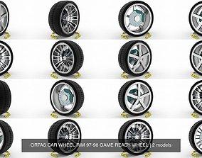 ORTAS CAR WHEEL RIM 97-98 GAME READY WHEEL 3D