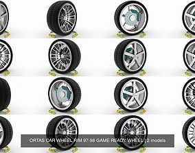 ORTAS CAR WHEEL RIM 97-98 GAME READY WHEEL 3D