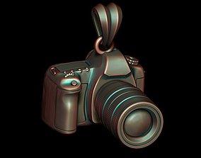 3D print model photo camera pendant