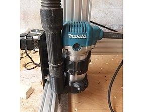 3D print model cnc vacuum attachment 65mm