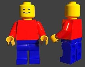 Lego Man Minifig 3D asset low-poly