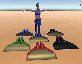3D asset Low poly monofin