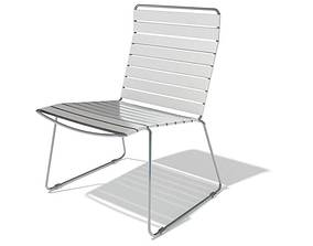 3D model White Metal Outdoor Chair