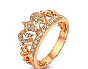 3D printable model Crown ring Stella