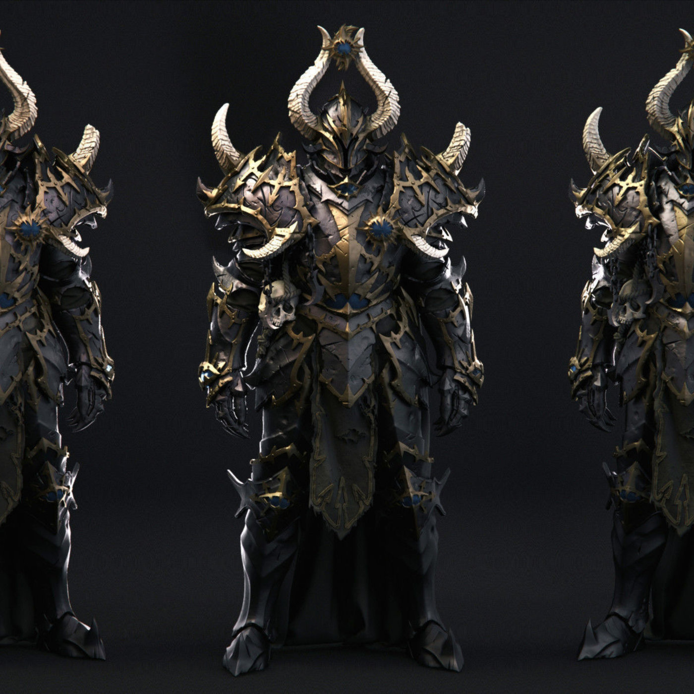 Warhammer Chaos Warrior Wip by Charles Lim