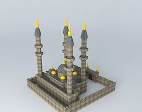 Mosque Stone Textured 3D