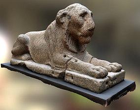 Lion egyptian 3D